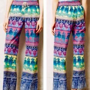 Anthro Eloise Patterned Cotton Lounge Pj Pants